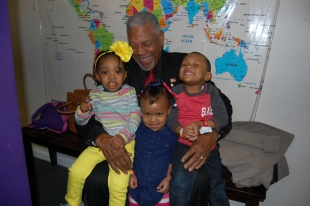 "The kids and ""Pop Pop!"""