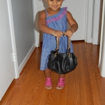 She loves this purse!