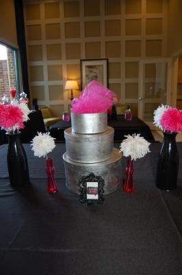 Table centerpieces (remember those Pom Poms?)