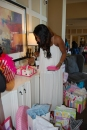 Mommy cutting the cake!