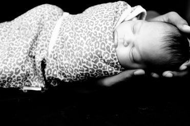 Aria Swaddled in Leopard