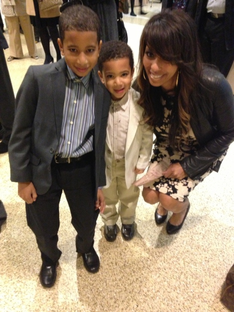 Our Dapper Dudes with Posh Mumsy Charlie!  :)